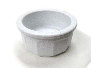 画像1: MADE IN U.S.A(米国製)東京ペット ペットダイナークロックSサイズ ストーン【定形外郵便(メール便)340円対応】重厚感があるプラスチック9cmのミニ皿です。お水用に最適! (1)