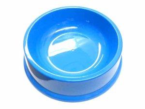 画像1: クラウンペット プラスチック製 ペット用食器 大 ブルー 【定形外郵便500円対応】 (1)