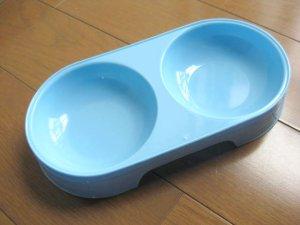 画像1: コンビ ペット用カラー食器WS ブルー(水色)【定形外郵便220円対応】 (1)