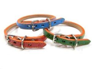 画像1: 【訳あり】イーグル 半丸首輪3号 首廻り30-37cmの犬用 牛革首輪 (1)