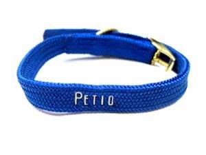 画像1: ペティオ ヴエルダー首輪 ブルー 首回り12-21cm 猫・超小型犬用首輪【定形外郵便120円対応】 (1)