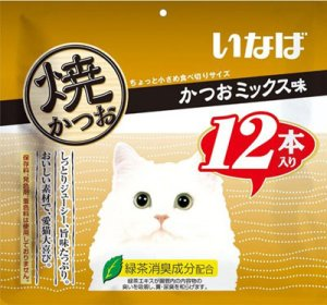 画像1: 【セール中】いなば チャオ 焼かつお かつおミックス味 12本【賞味期限2020.3.2】 (1)